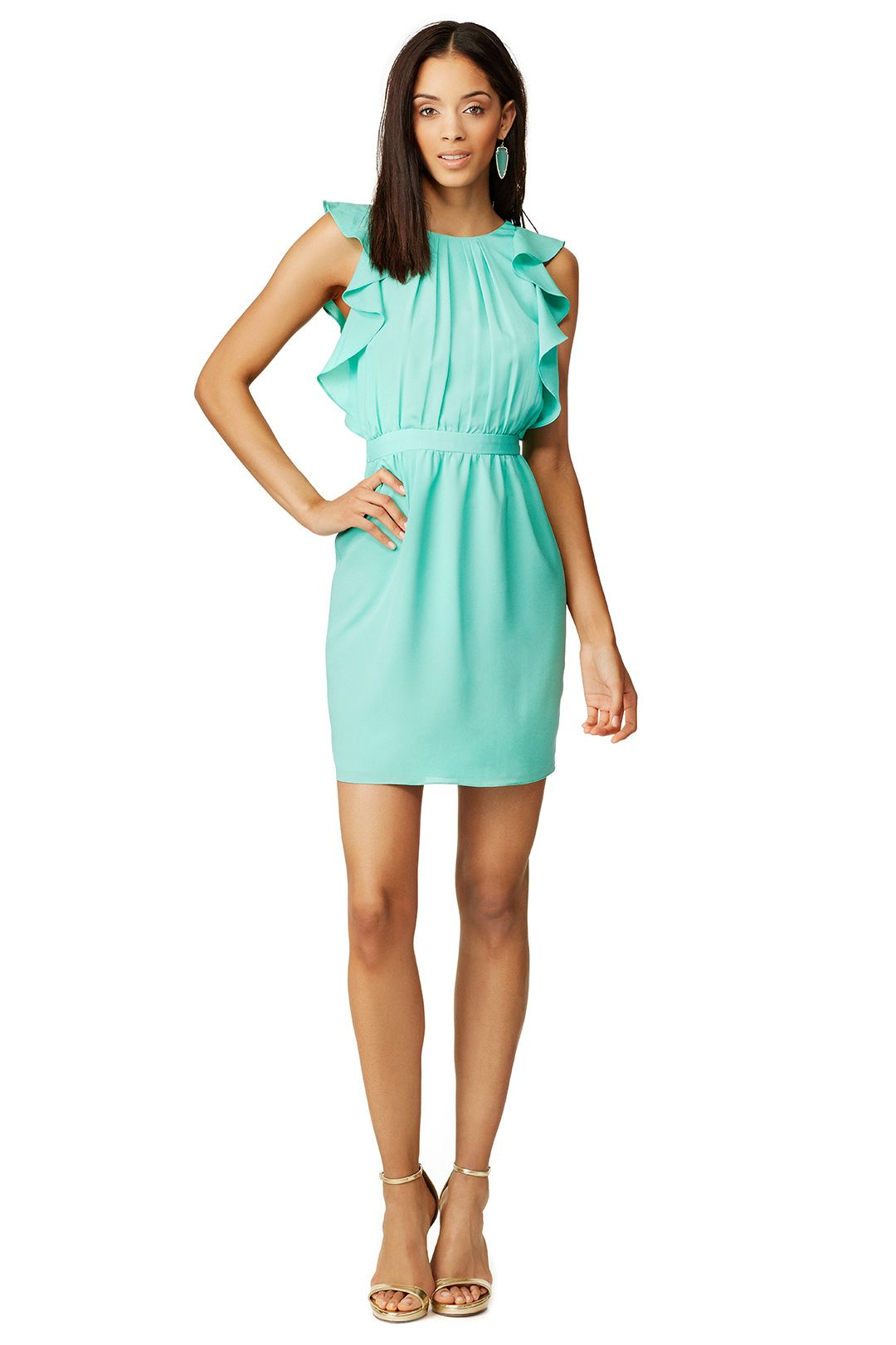 Such A Cute Dress For Casual Wedding Shoshanna Aquamarine Katrina From Rent The