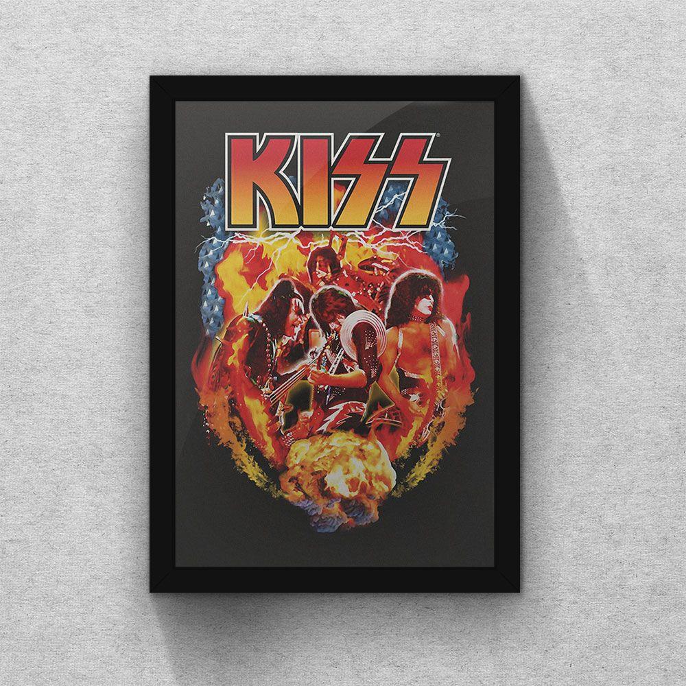 Quadro Banda Kiss Poster Maiores Bandas De Rock Banda Kiss