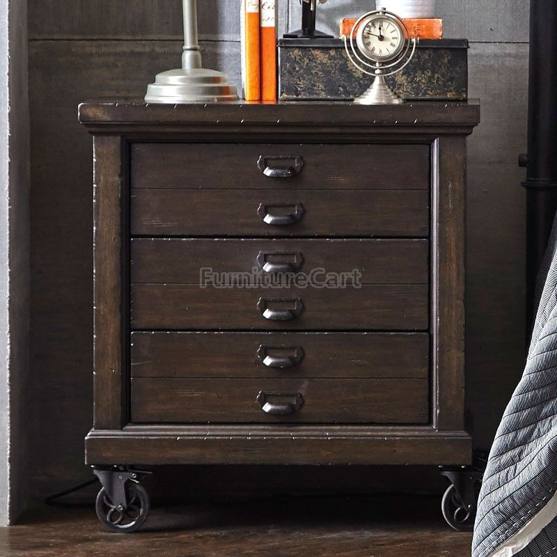 Fulton Street Rolling Nightstand Dresser As Nightstand Furniture Bedroom Collection