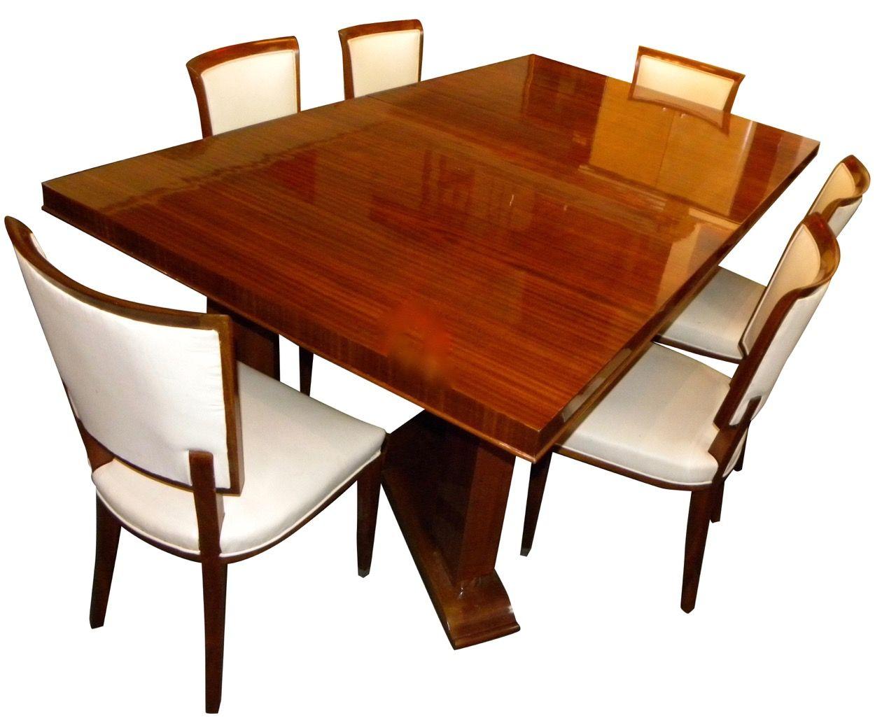 Jules Leleu Dining Room Table Chairs 1937 Paris Exhibition Art DecoTable