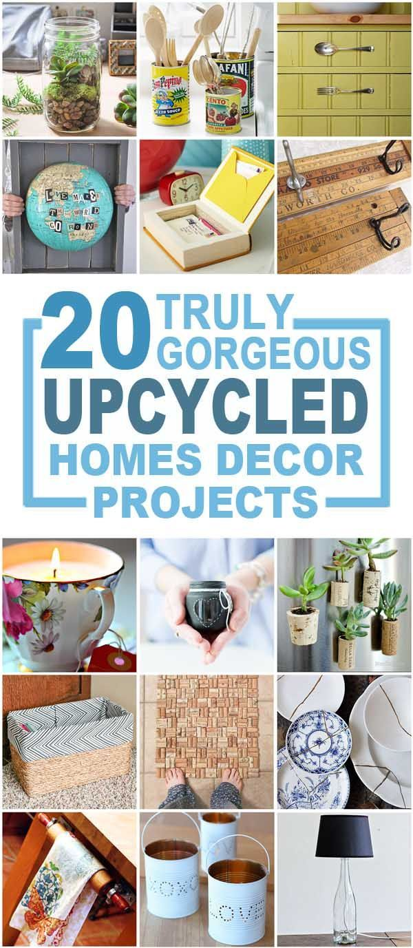Truly gorgeous upcycled home Décor Items, recycled crafts, upcycled crafts, make over decor, recycled home decor items. #diyhomedecor #DIYHome #upcycledhomedecor