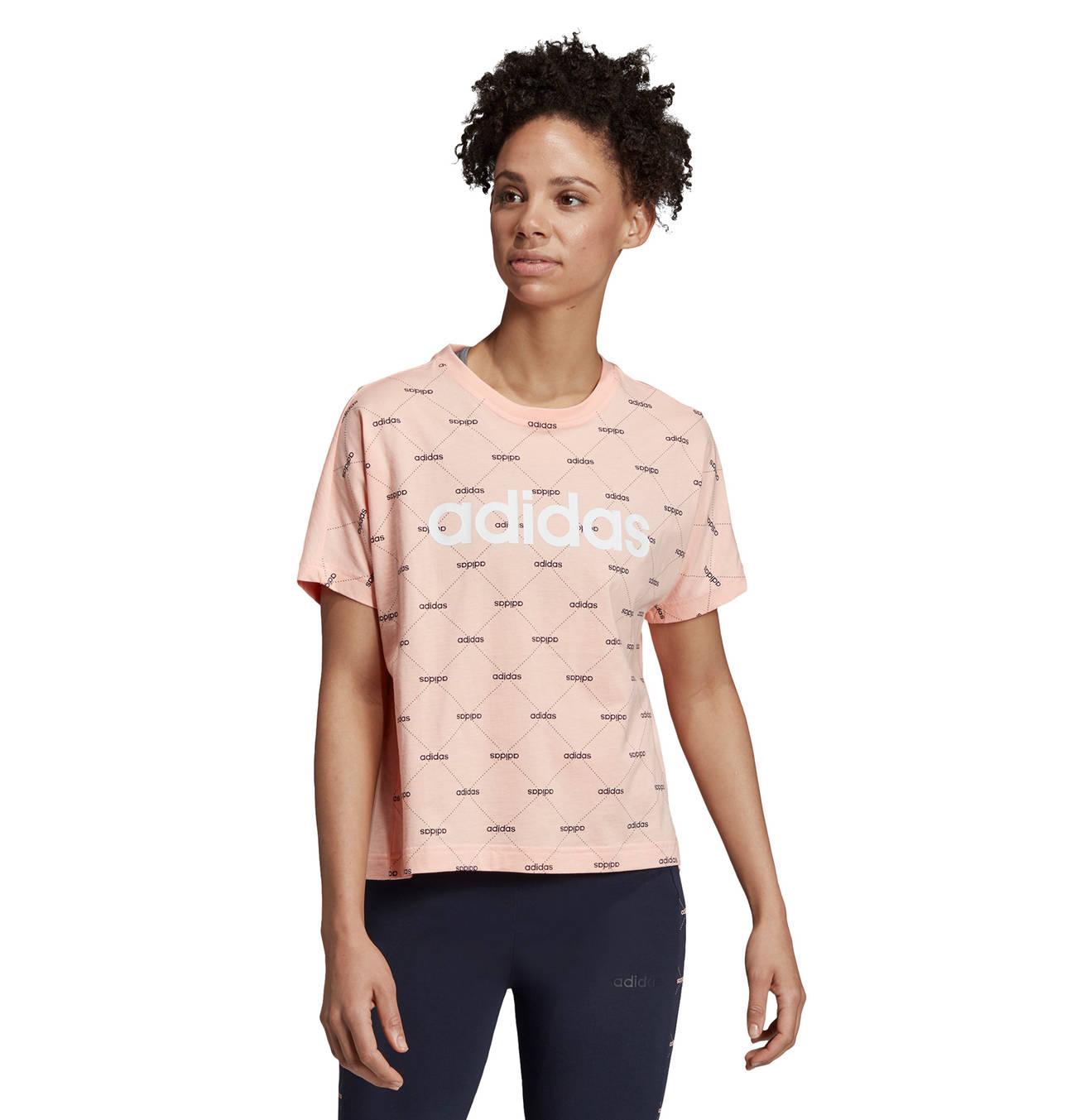 T Shirt Linear Graphic Rauten Muster Logo Print Fur Damen Baumwolle Shirts T Shirt