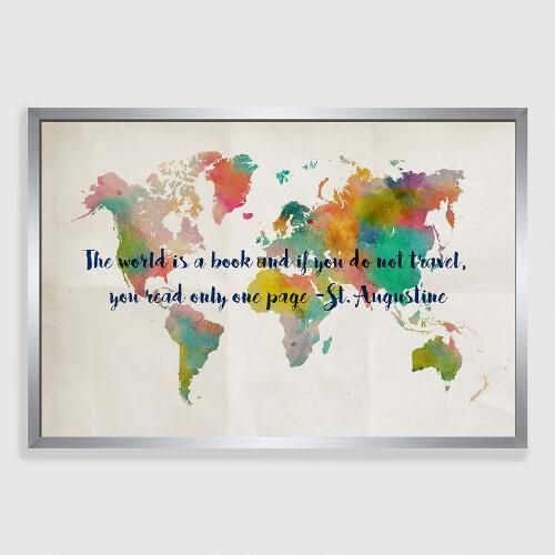 Travel map framed canvas print multi by world market livi room one of my favorite discoveries at worldmarket travel map framed canvas print gumiabroncs