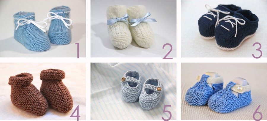 6 patrones gratis para hacer patucos de bebé | Patrón gratis ...
