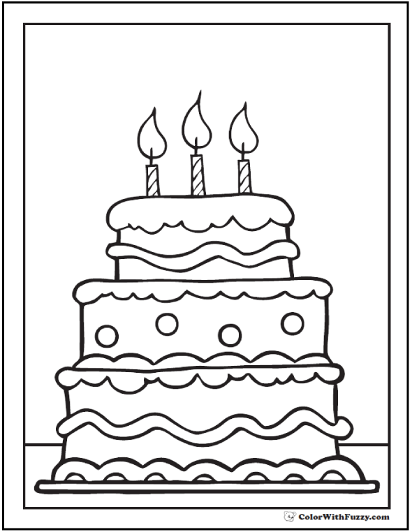 Image Result For Birthday Cake Images To Color Coloring Rhpinterest: Coloring Pages Cake With Candles At Baymontmadison.com