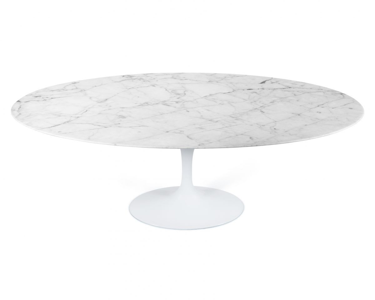 Marvelous Tulip Table Oval   Carrara
