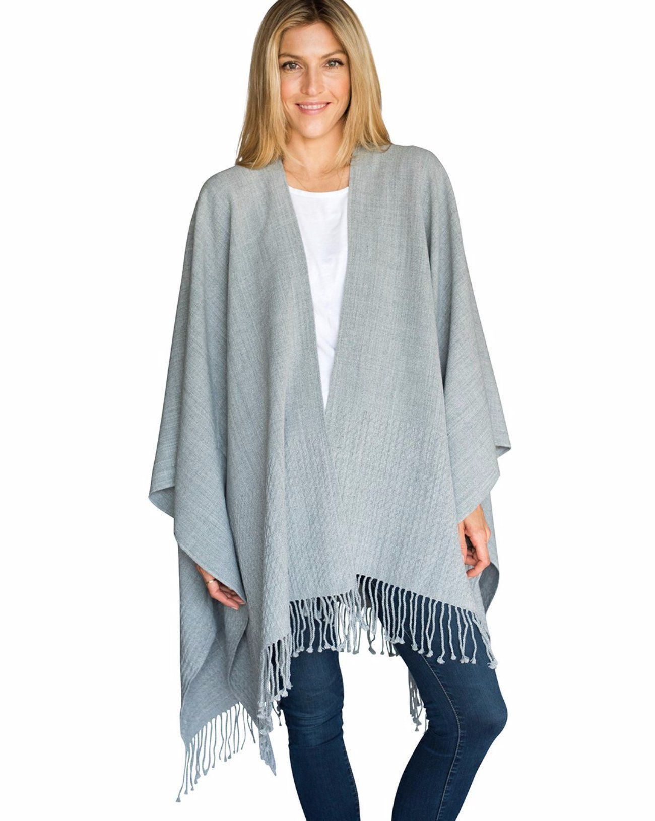 c9cccc85c7 Fog Grey Classic Travel Wrap - The English spell this color with an  e  and  so shall we! This grey is simply the best we could imagine - a slight  heather ...