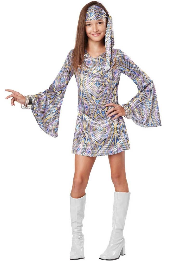 Mens Hippie 60s 70s Peace Groovy Costume 1960s 1970s Retro Disco Fancy Dress