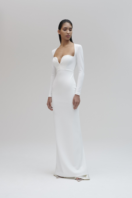 Marlie Maxi Dress Winter White In 2021 Formal Dresses With Sleeves Long White Dress Maxi Dress Winter [ 1498 x 1000 Pixel ]