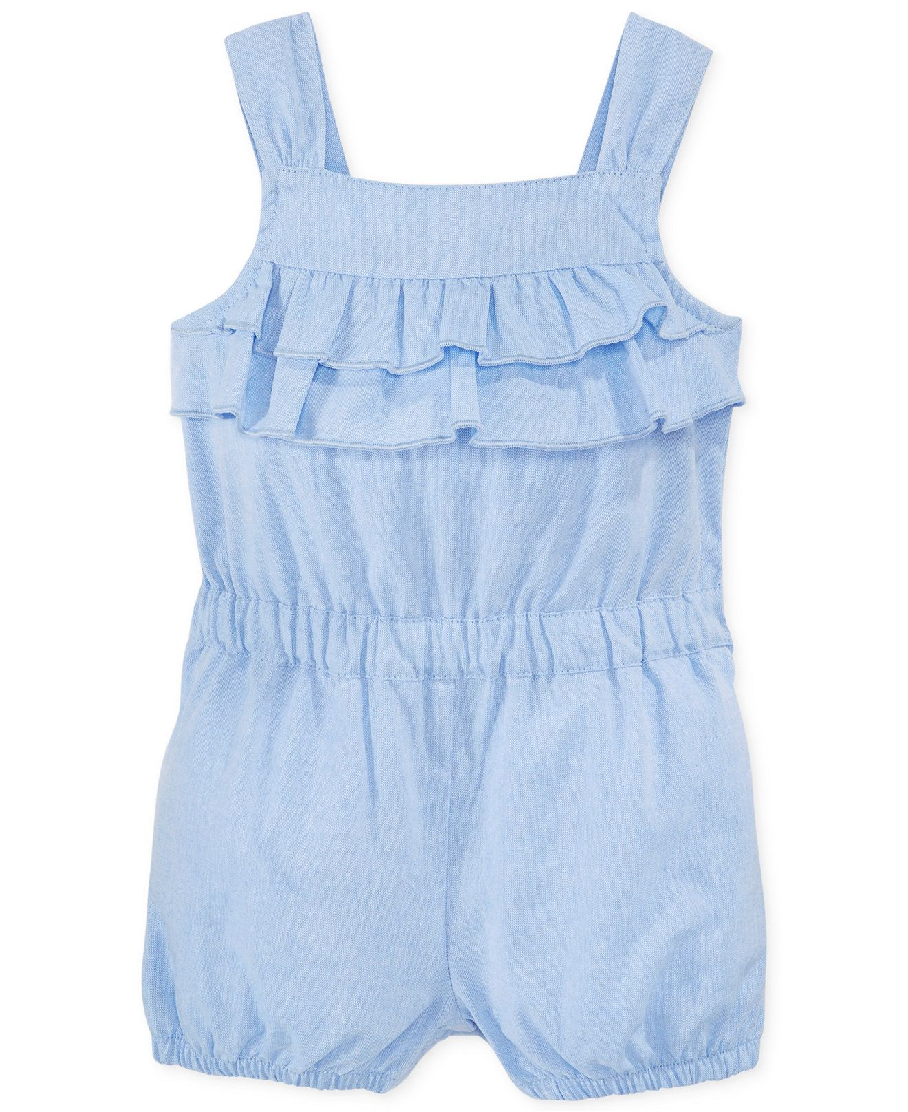 017004d7698f First Impressions Baby Girls  Chambray Ruffle Romper - Kids Baby Girl (0-24  months) - Macy s
