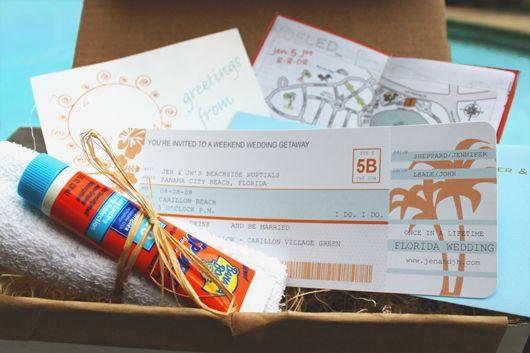 DIY Airplane Ticket Invitations Ticket invitation Wedding and