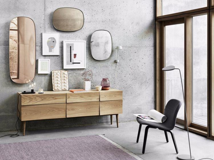 spiegel-wohnzimmer-framed-muuto-retro-kombinieren-kommode ...