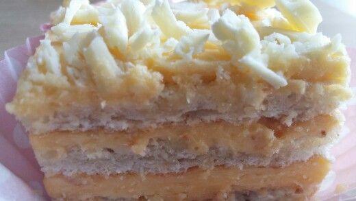 Witte noten taart