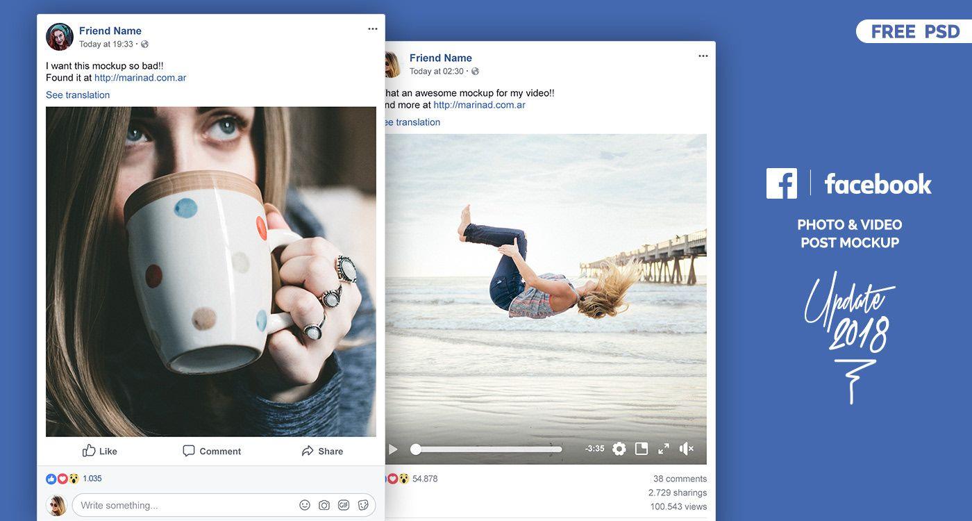 FREE Facebook PSD Post Mockup – 2018 on Behance | Mockups | Facebook