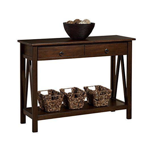 Best Seller Curved Accent Console Table Decor Storage: Amazon.com: Linon Home Decor Titian Antique Console Table