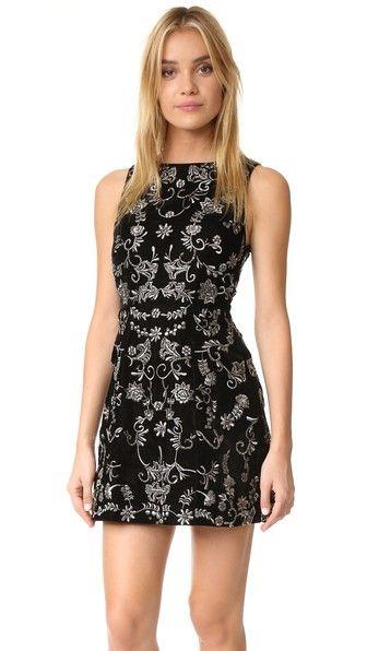 alice   olivia Lindsey Velvet Pouf Dress