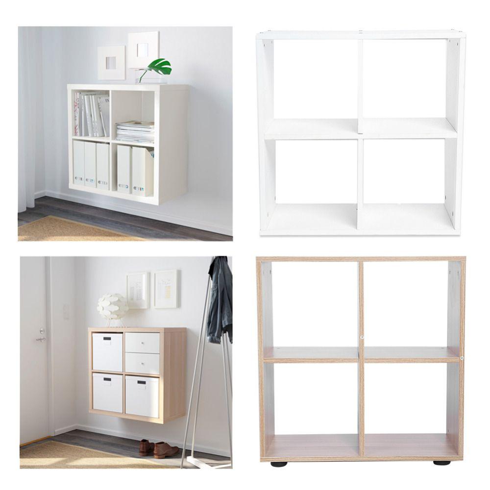 4 Grids Rack Bücherregal Schritt Lagerung Cube Display Regal Moderne ...