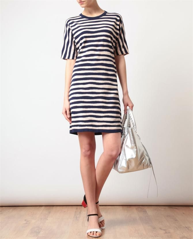 BALENCIAGA | Striped Cotton Knitted Dress | Browns fashion & designer clothes & clothing