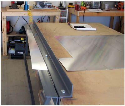 Eaa Experimenter Dave S Sheet Metal Bending Brake Metal Bending Sheet Metal Brake Metal Bending Tools