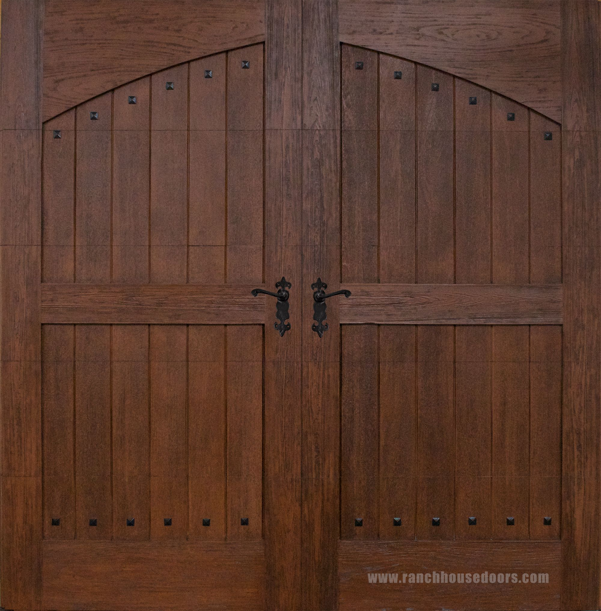 Ranch House Doors Model 302 Elements Collection Clear Cypress Faux Wood Garage Door With Fh 510 Iron Door Faux Wood Garage Door Wood Garage Doors Garage Doors
