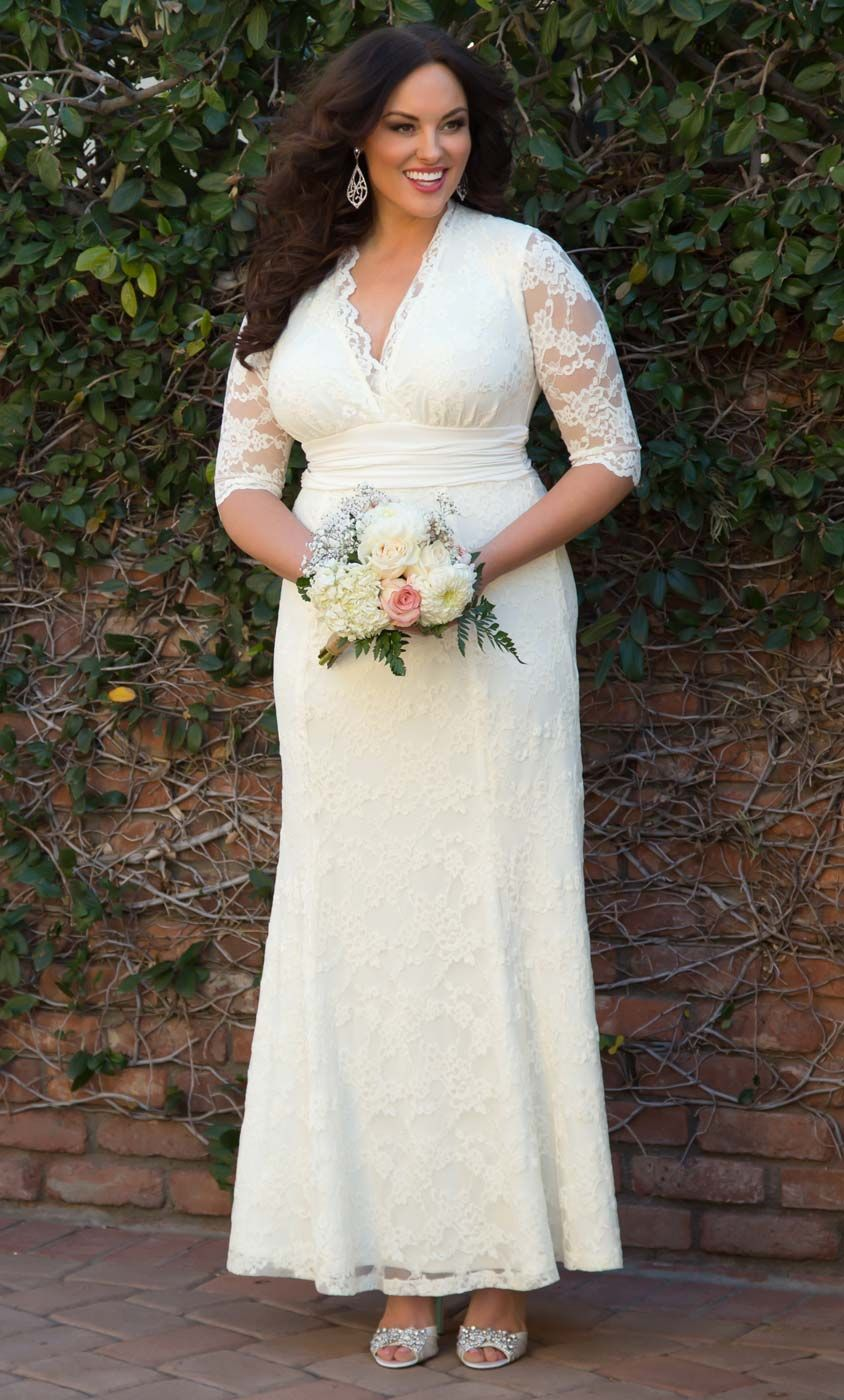 Our Plus Size Amour Lace Wedding Gown Features Beautiful Lace A Classic Silhouette And Comfo Wedding Gowns Lace Wedding Dresses Plus Size Casual Wedding Dress [ 1400 x 844 Pixel ]