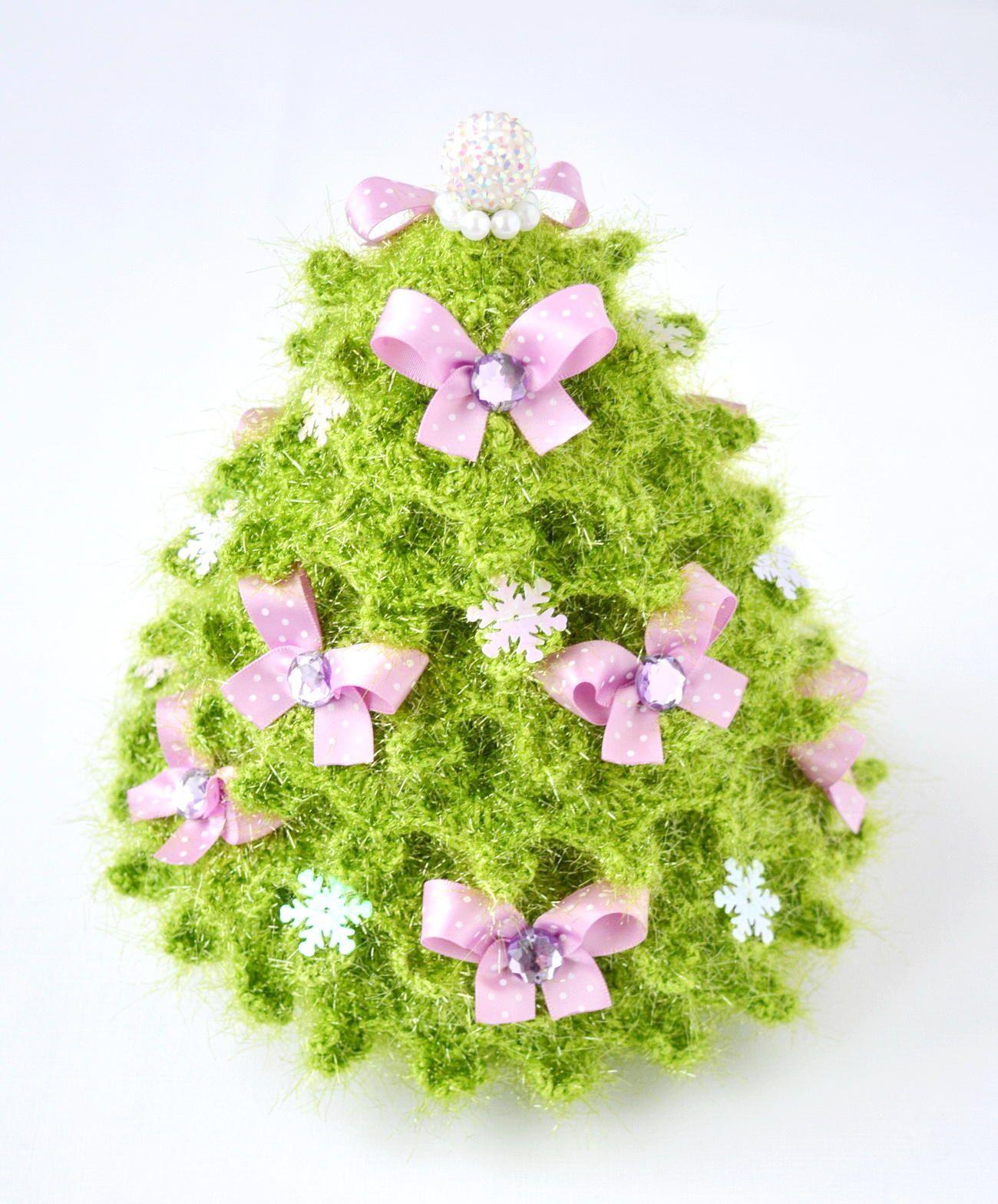 Pdf новогодняя искрящаяся ёлка Free Amigurumi Crochet Pattern