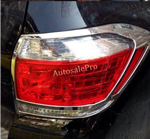 Chrome Rear Tail Light Lamp Cover Trim 2pcs For Toyota Highlander 2011 2012  2013 #Affiliate