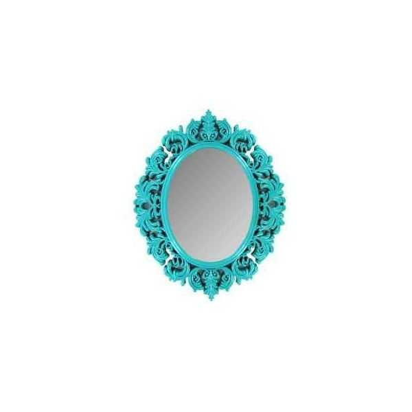 Turquoise Victorian Mirror ($12) ❤ liked on Polyvore featuring home, home decor, mirrors, victorian home decor, victorian mirror, turquoise mirror, turquoise home decor and turquoise home accessories