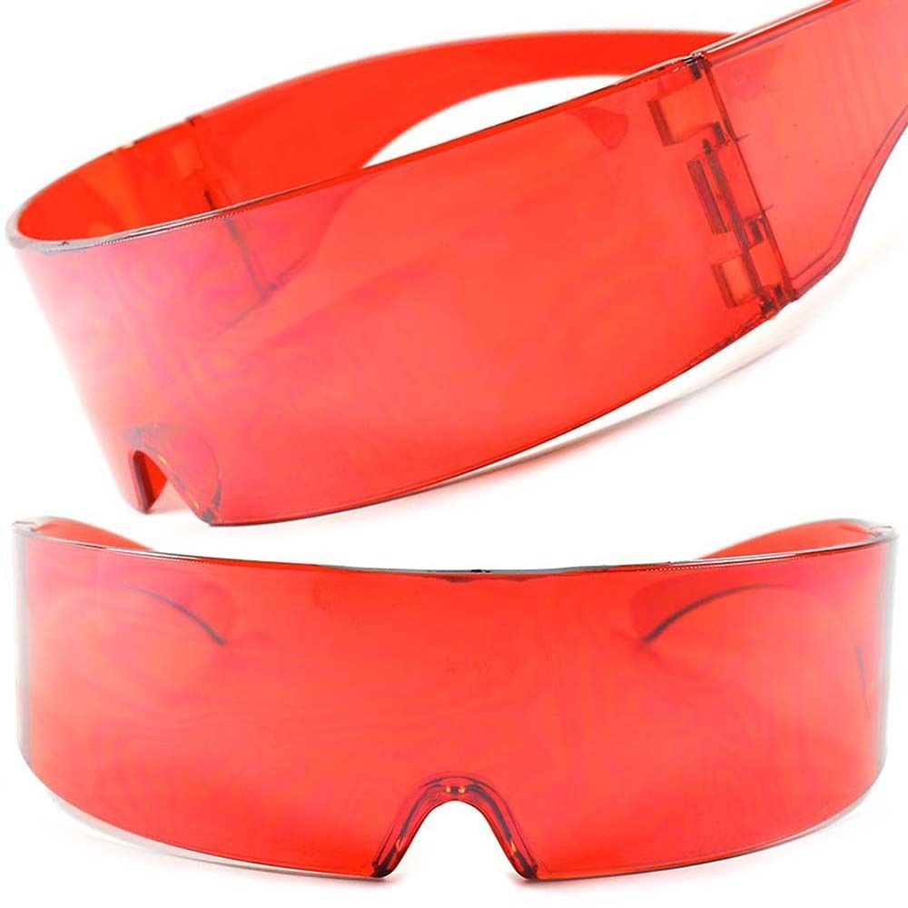 2b7e0bd086 Red Novelty Funky Robotic Futuristic Rave Fun Party Cosplay Costume Sun  Glasses  KISS  Futuristic