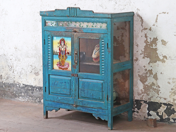 Vintage Furniture | Interiors | New Arrivals | Scaramanga #vintagecabinet #naturalwoodenfurniture #kitchenfurniture #cupboard #bluecupboard #vintagefurniture