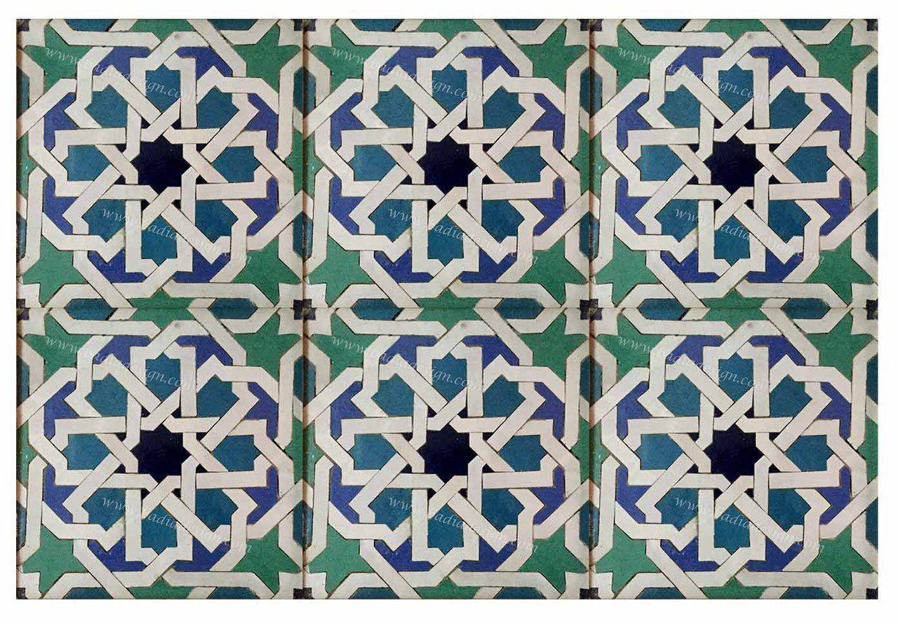 Badia Design Inc Moroccan Mosaic Hand Painted Floor Tile Tm039 Http