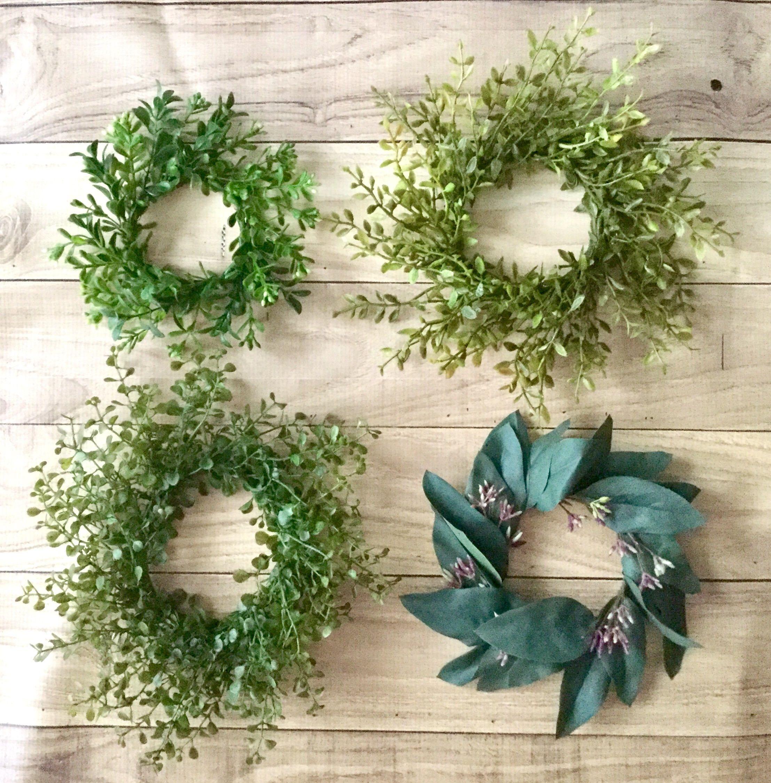 BACK IN STOCK! Mini Boxwood Wreath, Candle Ring Wreath