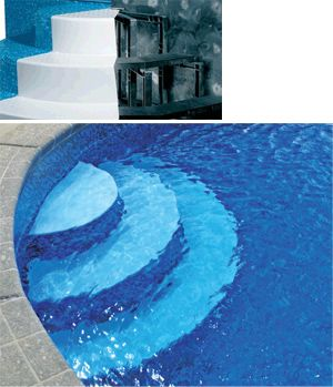 Wedding Cake Steps  Pool steps, Pool, Swimming pool steps