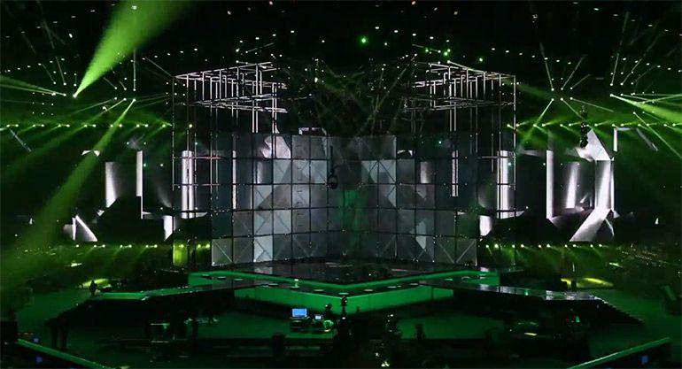 Spektakuläre Bühnentechnik beim Eurovision Song Contest 2014 in Dänemark