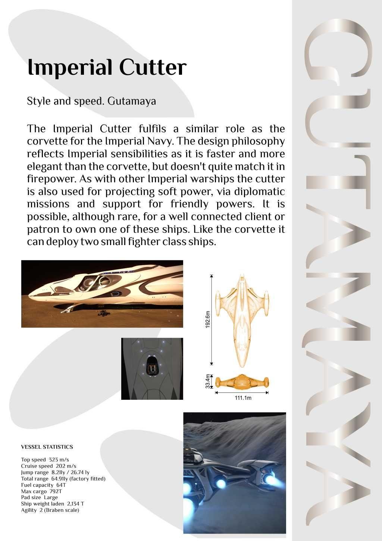 Elite: Dangerous Gutamaya Ship Brochure in 2019 | Starships