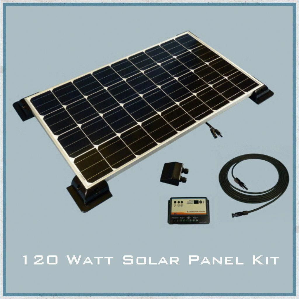 120w Solar Panel Caravan Motorhome Kit Solar Panels Solar Solar Energy Panels