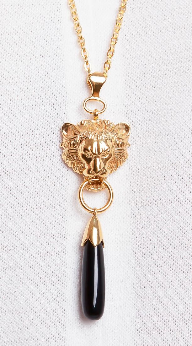 Lionheart gold onyx necklace shop fierce azuni jewellery https lionheart gold onyx necklace shop fierce azuni jewellery httpsazuni aloadofball Images