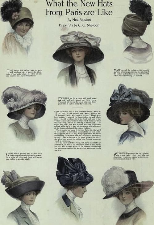 Beautiful Parisian hats.  fff8a8f5919
