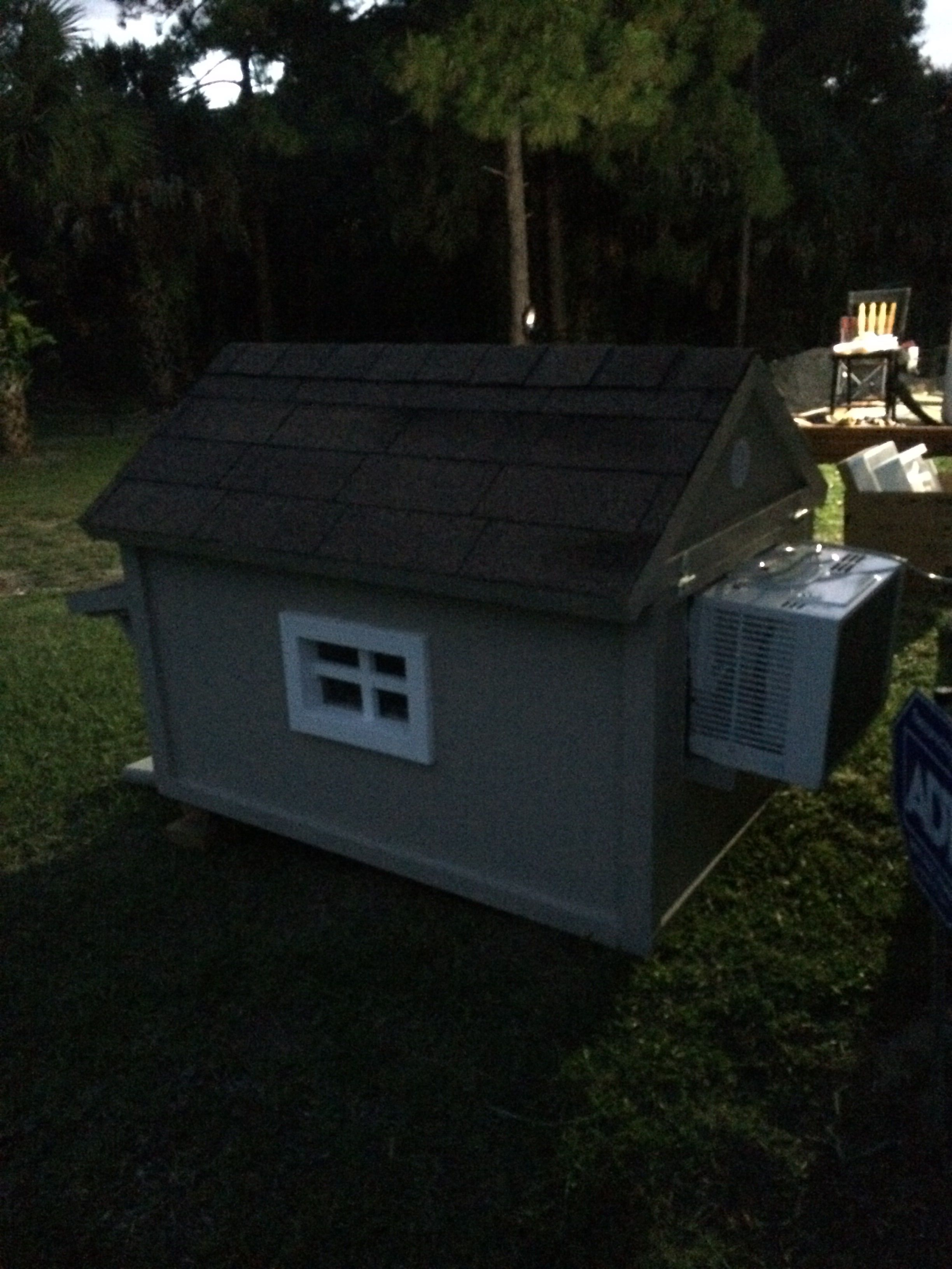 Ac dog house to my jack russell Air conditioned dog house