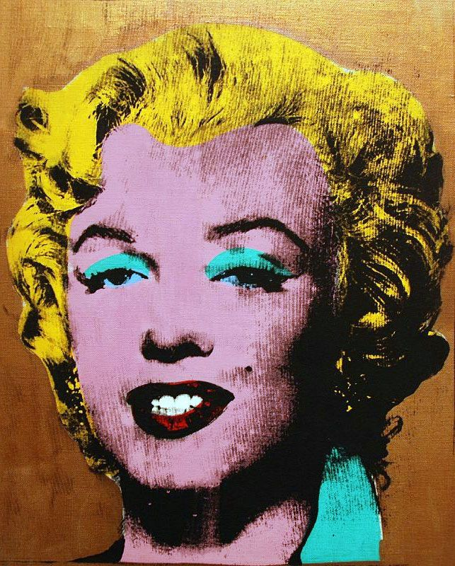 Gold Marilyn Monroe (di Andy Warhol) | Cultura | Pinterest | Warhol