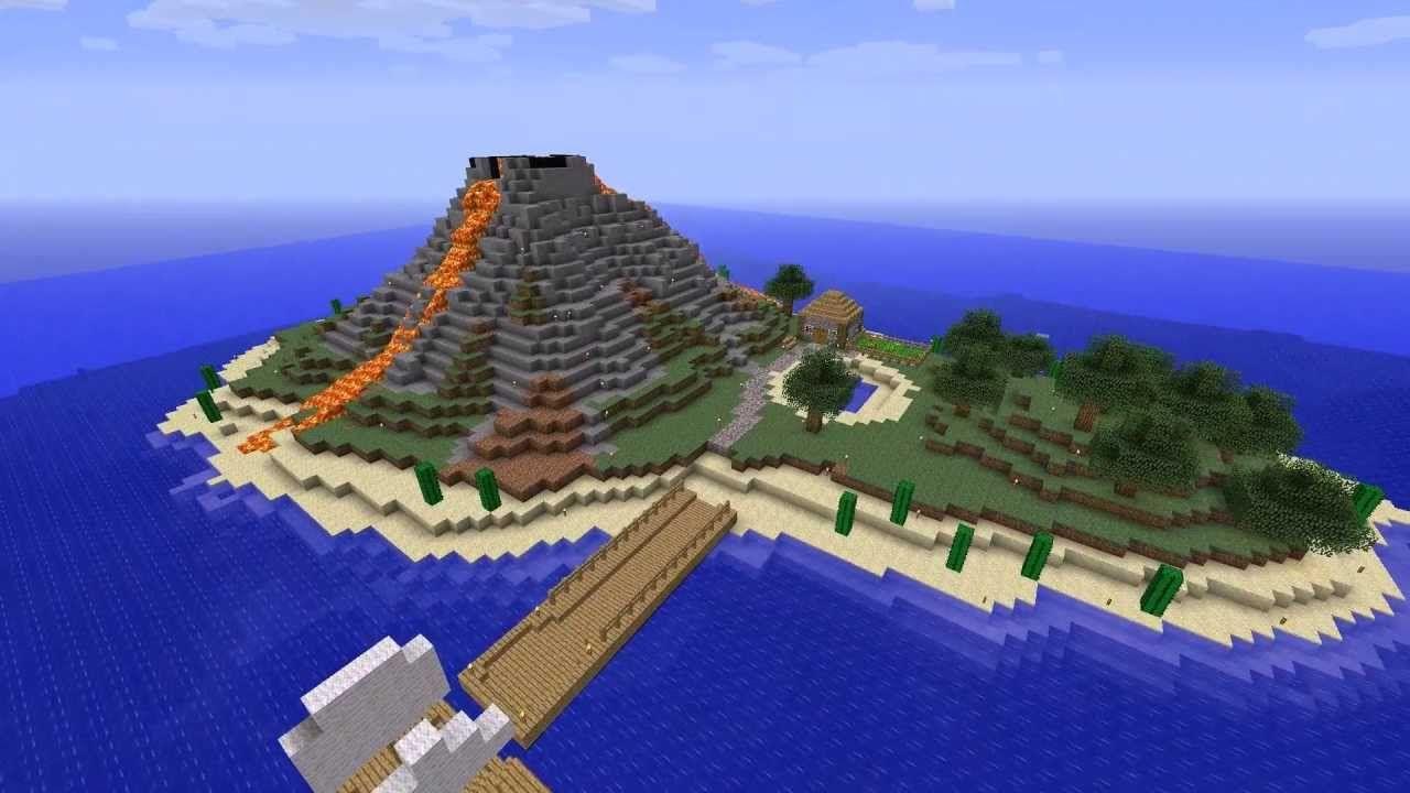 #1 Minecraft Timelapse Volcanic Island | Minecraft ...