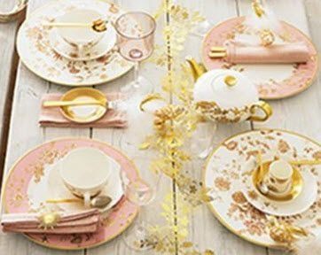 Villeroy & Boch Golden Garden  I like to set up a table outside and eat like we have servants-   B-