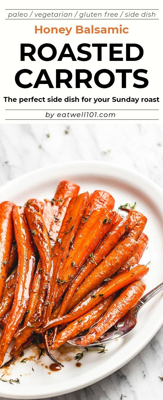 Honey Balsamic Roasted Carrots images