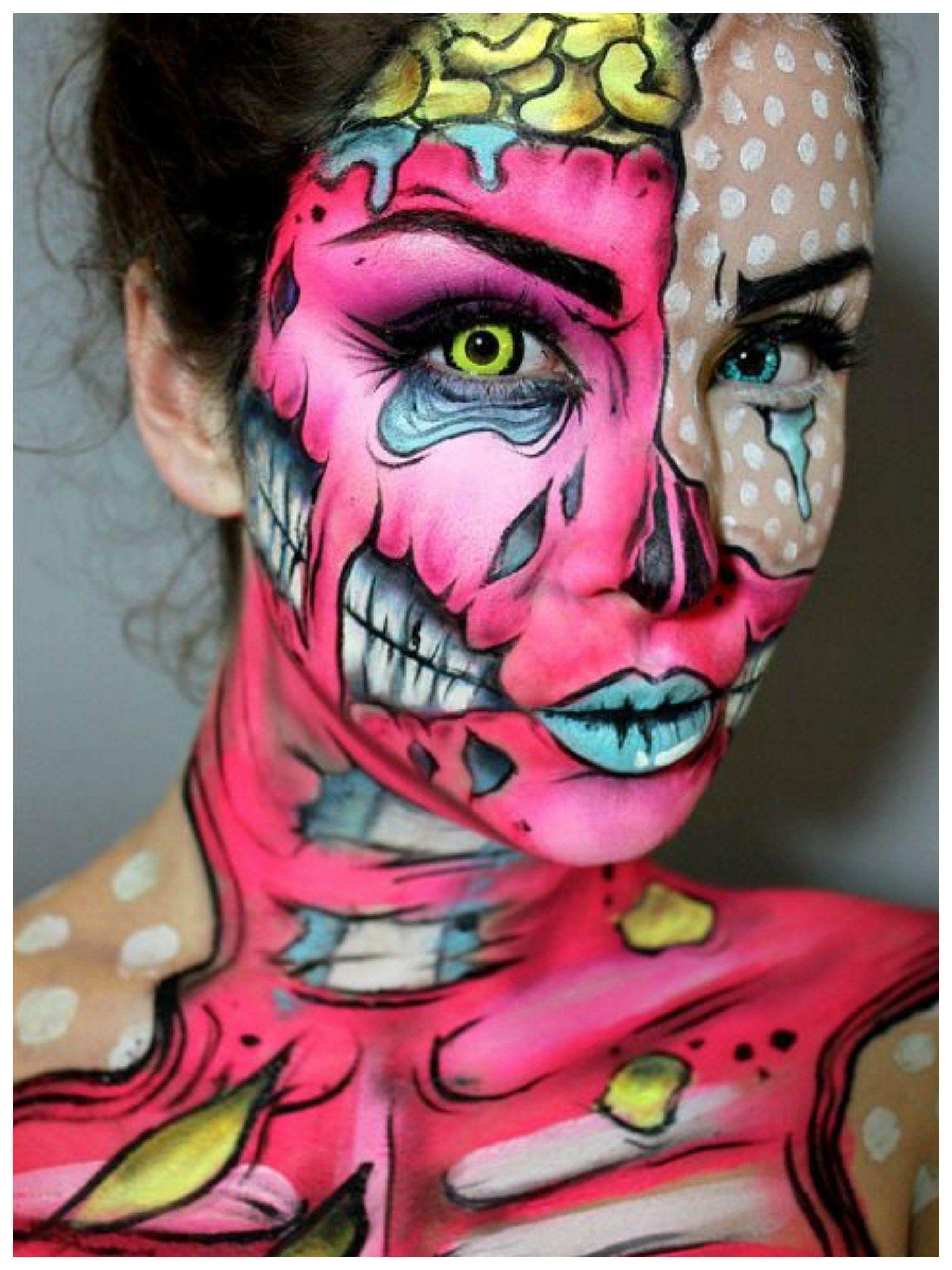 098f52b1fc931255a88014bc6ee1f222 Ideas For Pop Art Makeup Zombie @koolgadgetz.com.info