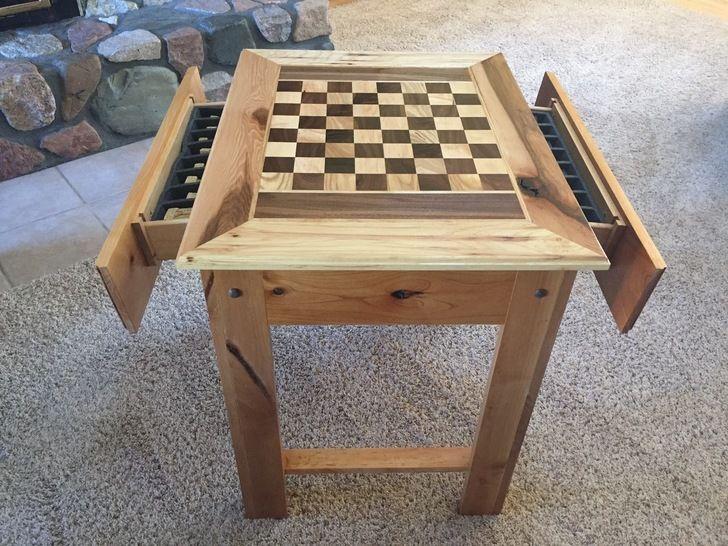 Chess Table Wood Chess Set Chess Table Wood Chess Board