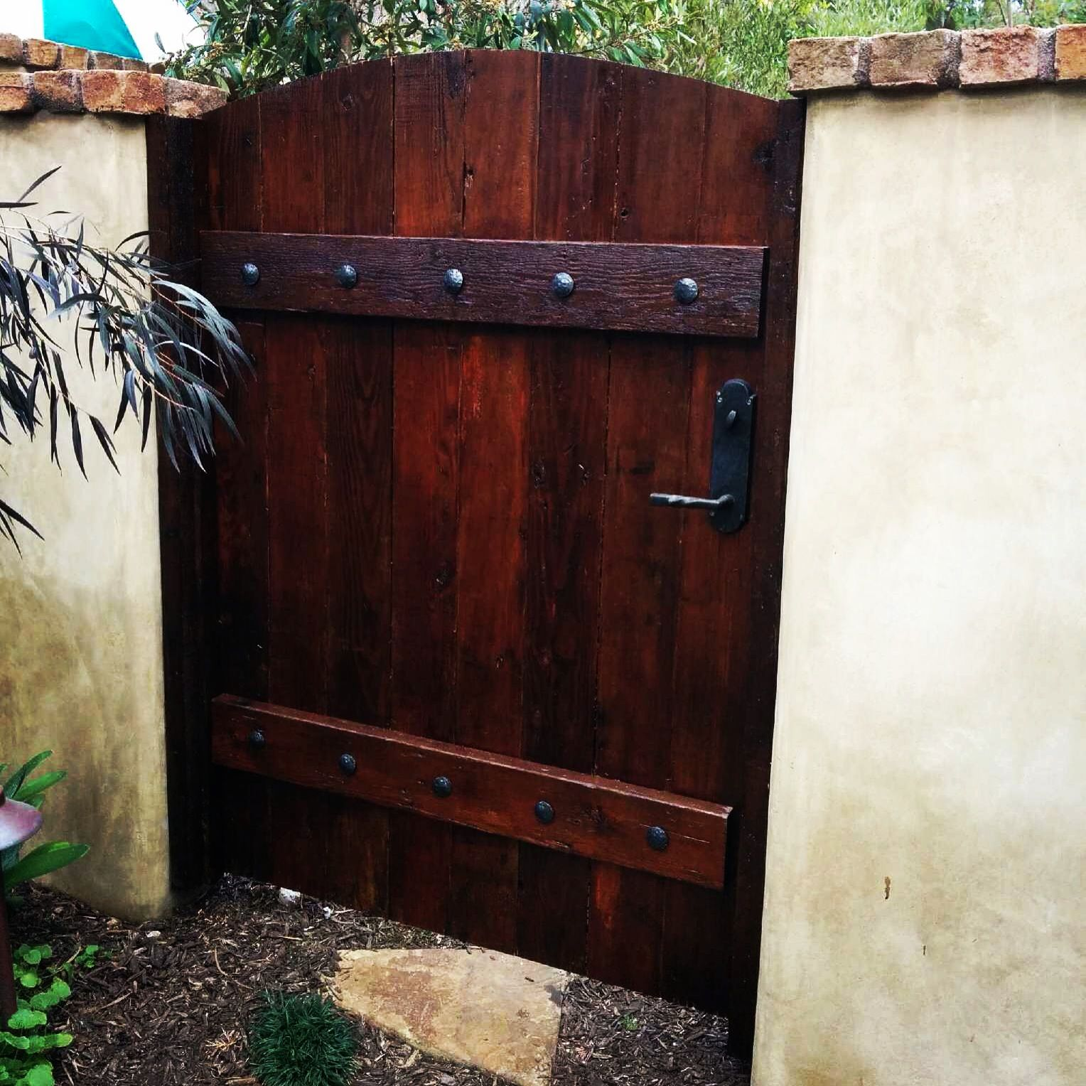 reclaimed wood gate pleted Projects Pinterest