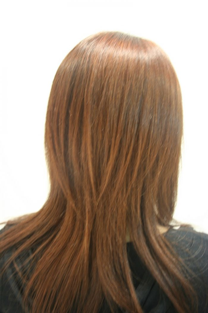 Layered haircuts for long hair front view