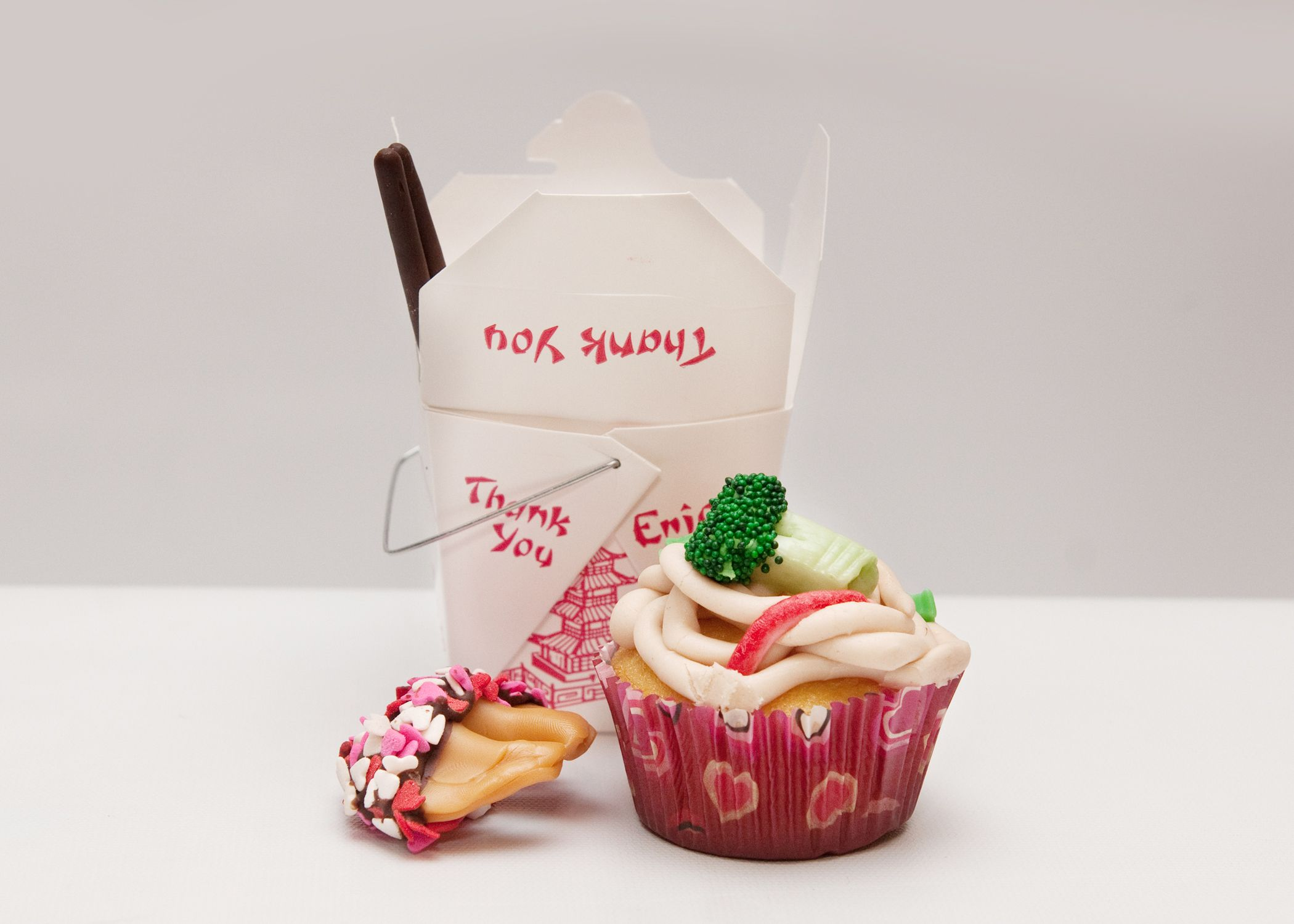 Chinese take out cupcakes | FOOD BABY | Pinterest