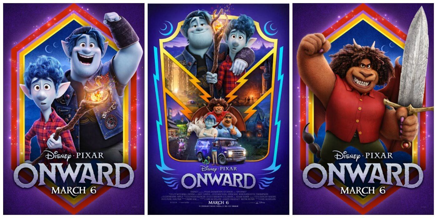 Disney Pixar's Onward Character Posters and New Official