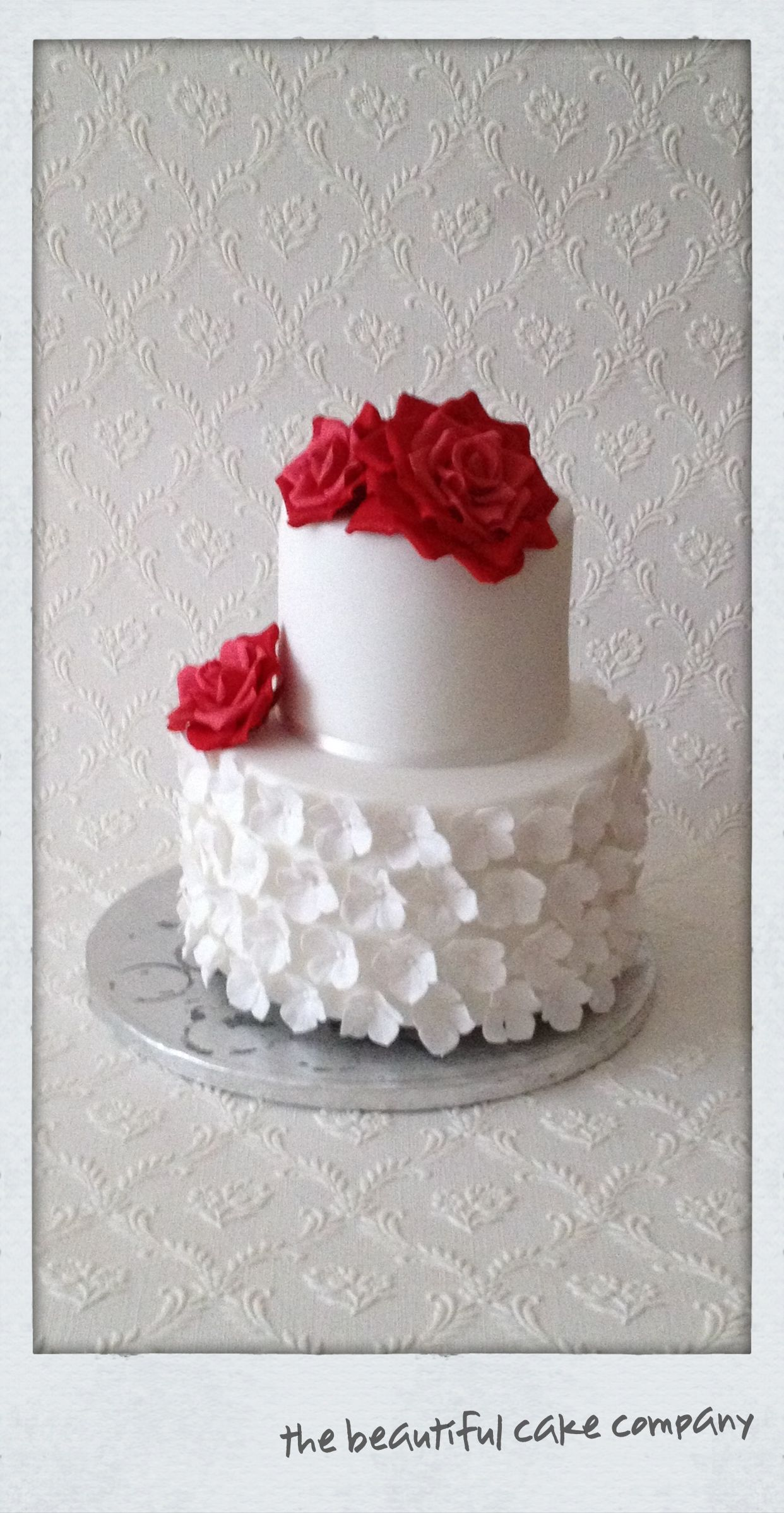 Rose & Hydrangea Wedding cake  http://www.facebook.com/pages/the-beautiful-cake-company/149909567474  www.thebeautifulcakecompany.weebly.com